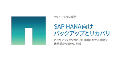 SAP HANA向けバックアップとリカバリ