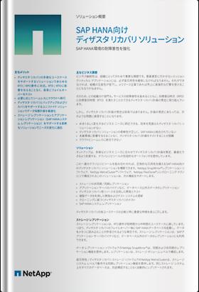 SAP HANA向けディザスタリカバリソリューション